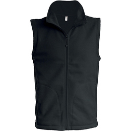 Fleece-Gilet Marke Kariban in dark grey (ideal zum Besticken)